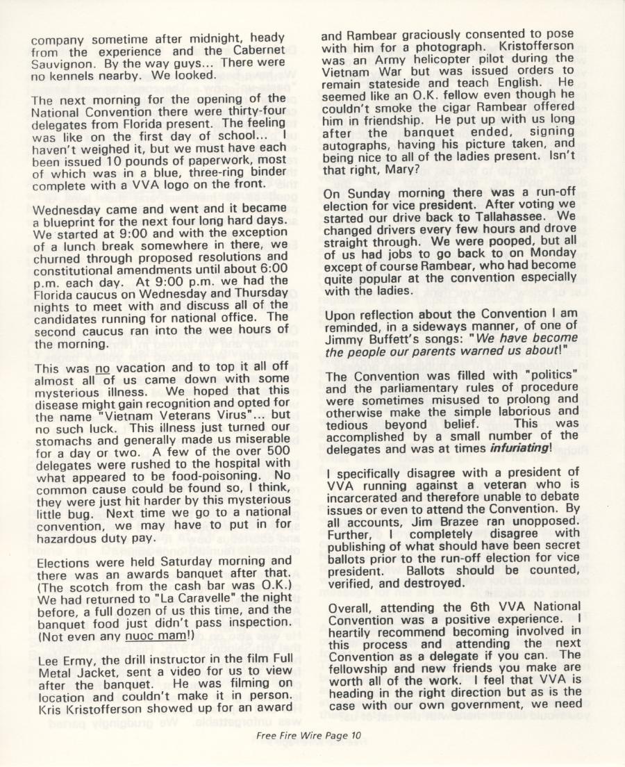Vietnam Veterans of America, Big Bend Chapter 96, Inc